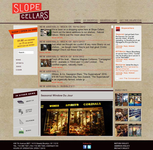 Slope Cellars Wine and Liquor Store - Brooklyn, NY - E-Commerce Web Development Customer