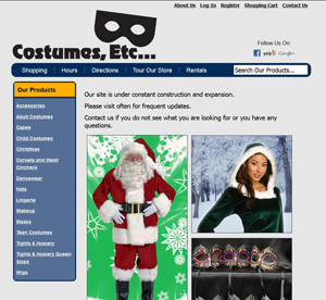 Costumes-Etc - Year round costume busines - Screen Shot